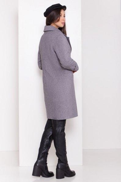 Зимнее утепленное пальто диагональ Вива 8243 Цвет: Серый
