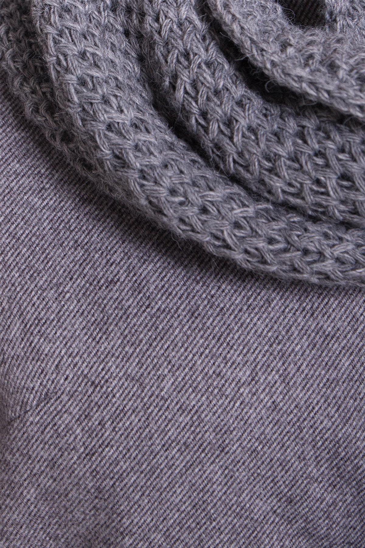 Зимнее утепленное пальто диагональ Вива 8243 АРТ. 44279 Цвет: Серый - фото 6, интернет магазин tm-modus.ru