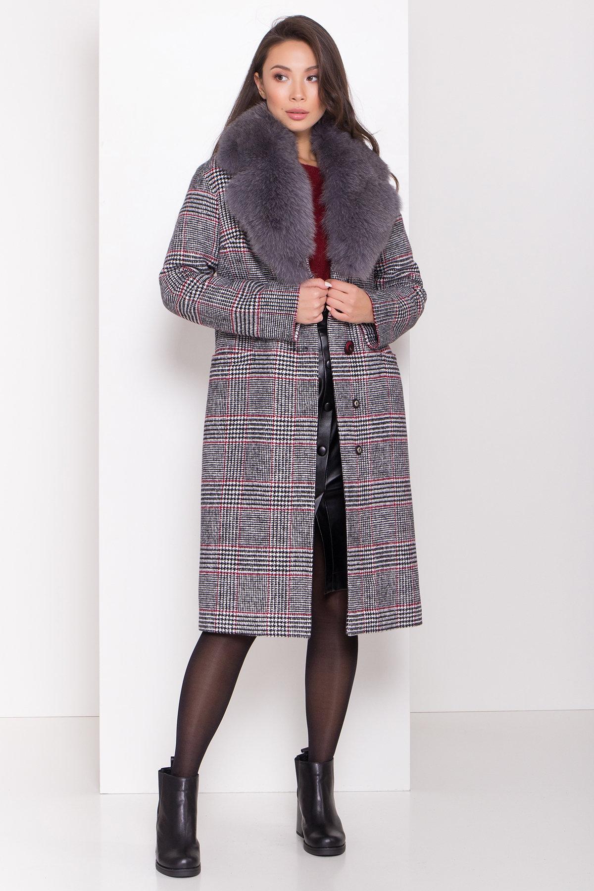 Пальто зима Вива 8279 АРТ. 44392 Цвет: Клетка кр черн/бел/кр - фото 2, интернет магазин tm-modus.ru