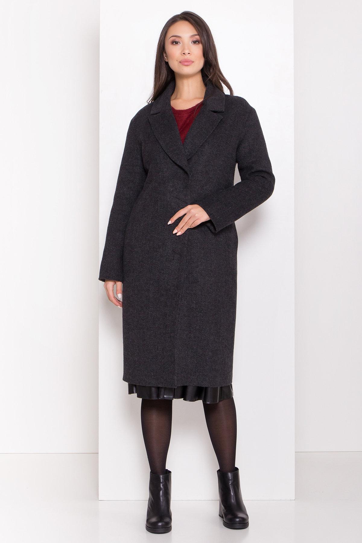 Зимнее пальто полуприталенного кроя Севен 8262 АРТ. 44329 Цвет: Чёрный/молоко - фото 2, интернет магазин tm-modus.ru