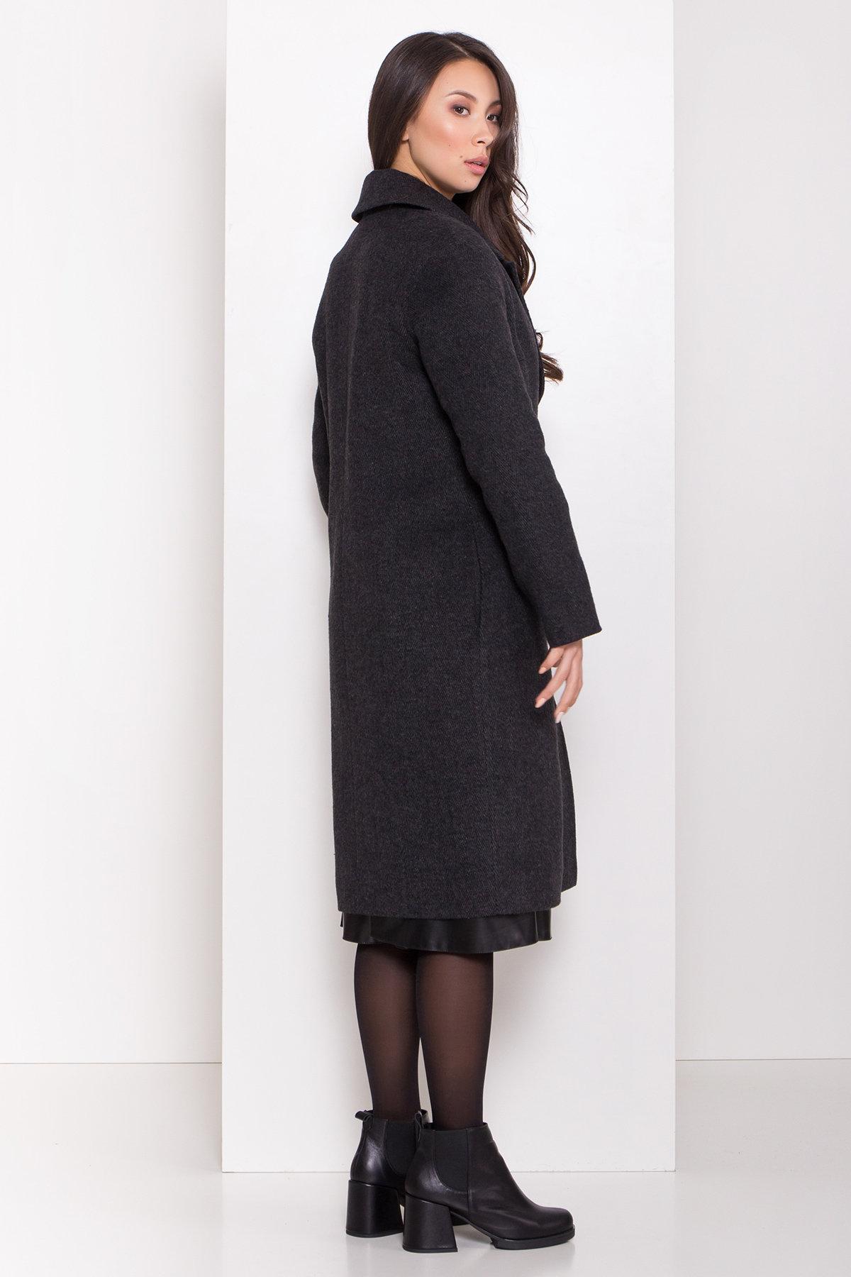 Зимнее пальто полуприталенного кроя Севен 8262 АРТ. 44329 Цвет: Чёрный/молоко - фото 3, интернет магазин tm-modus.ru