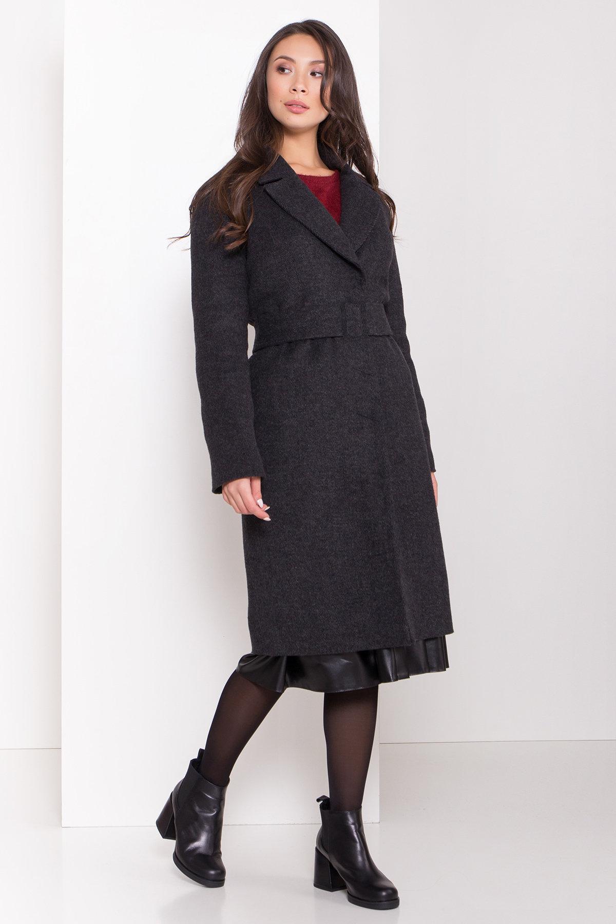 Зимнее пальто полуприталенного кроя Севен 8262 АРТ. 44329 Цвет: Чёрный/молоко - фото 4, интернет магазин tm-modus.ru