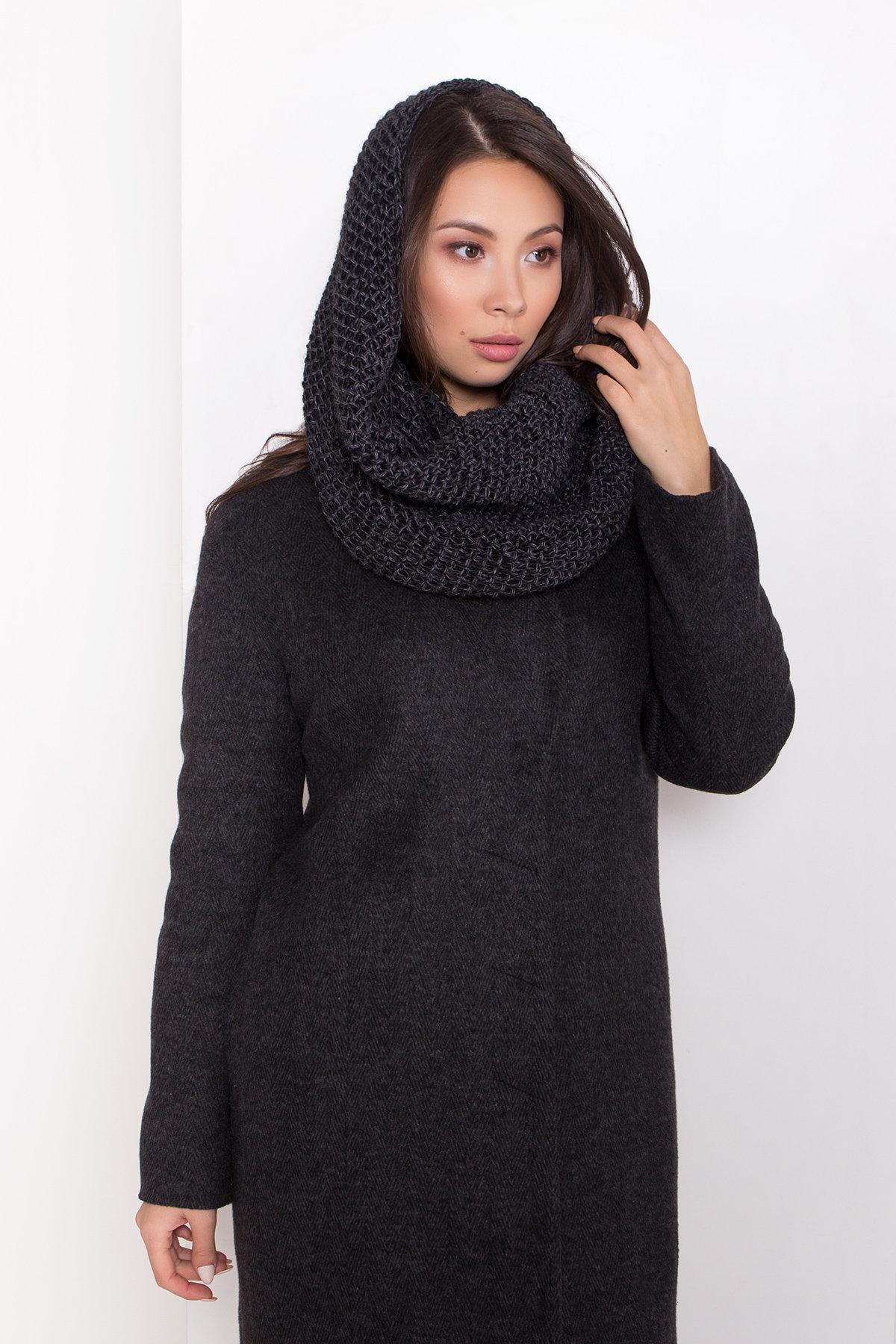 Зимнее пальто полуприталенного кроя Севен 8262 АРТ. 44329 Цвет: Чёрный/молоко - фото 6, интернет магазин tm-modus.ru
