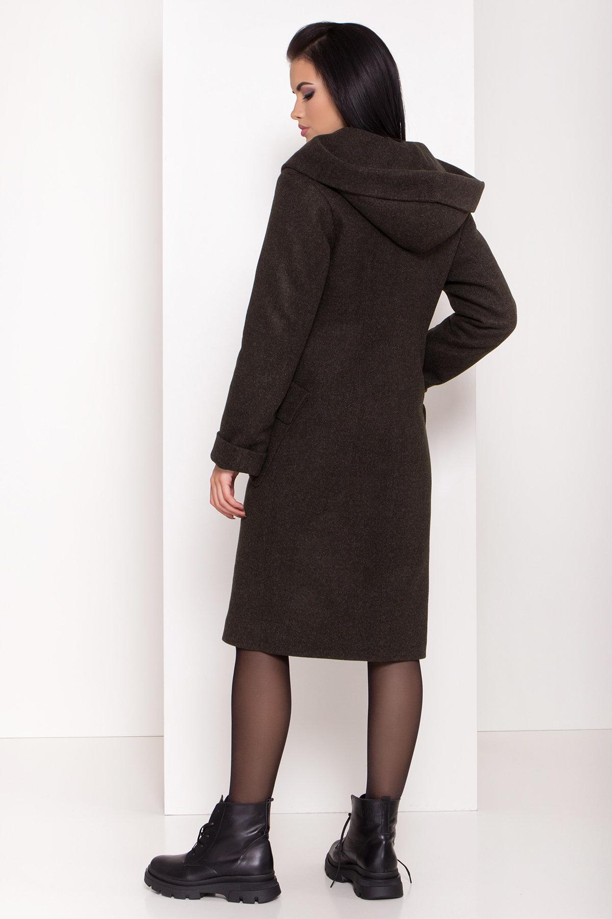Женское пальто зима с накладными карманами Анджи 8299 АРТ. 44424 Цвет: Хаки - фото 3, интернет магазин tm-modus.ru