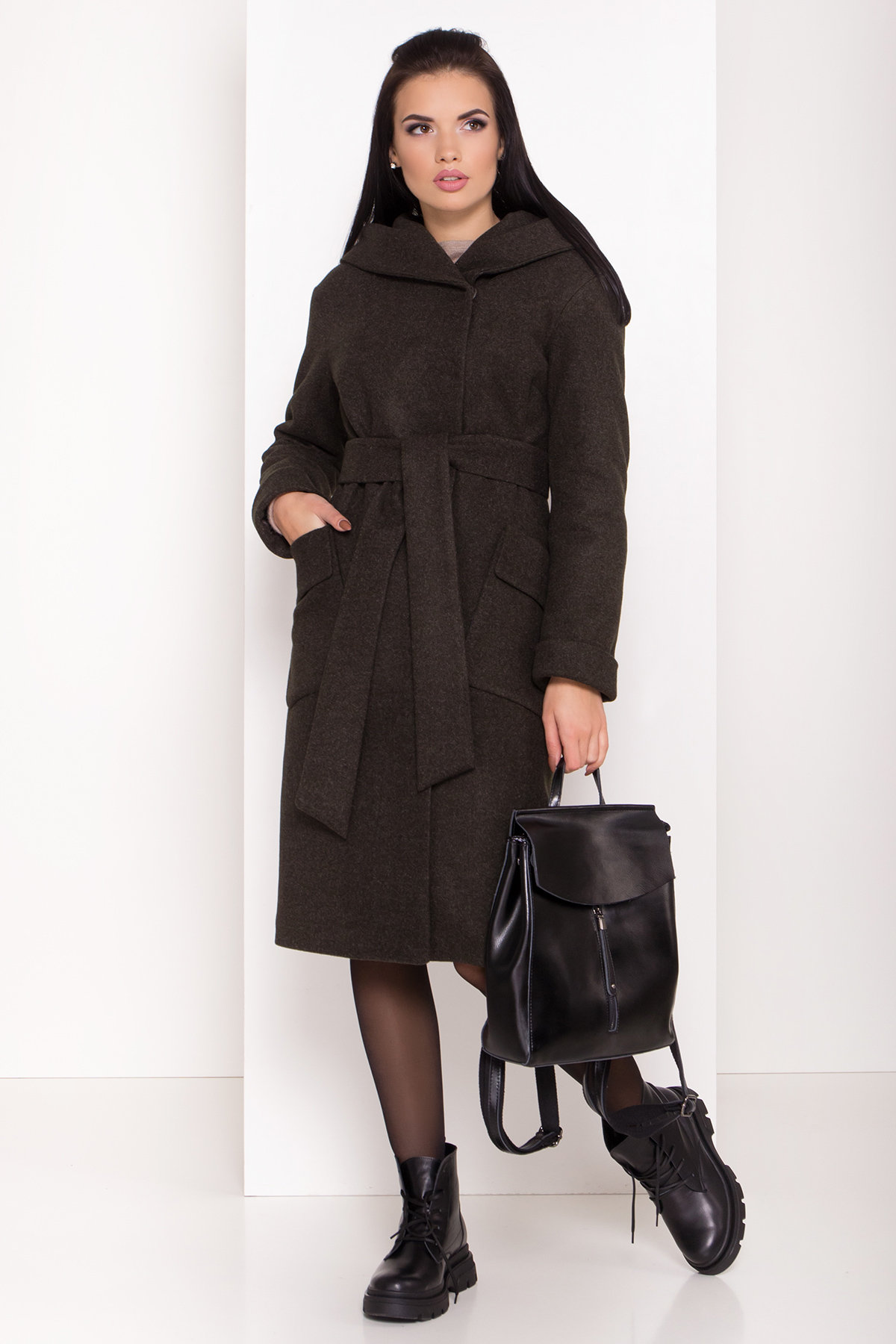 Зимнее пальто для женщин от Modus Женское пальто зима с накладными карманами Анджи 8299