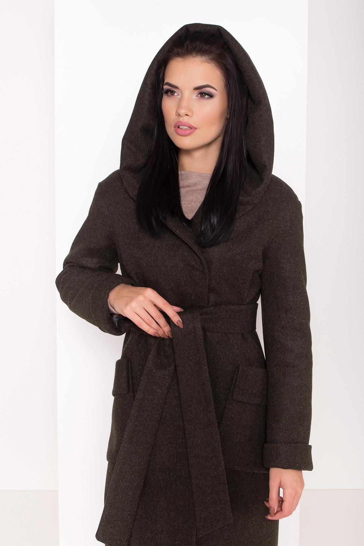Женское пальто зима с накладными карманами Анджи 8299 АРТ. 44424 Цвет: Хаки - фото 5, интернет магазин tm-modus.ru