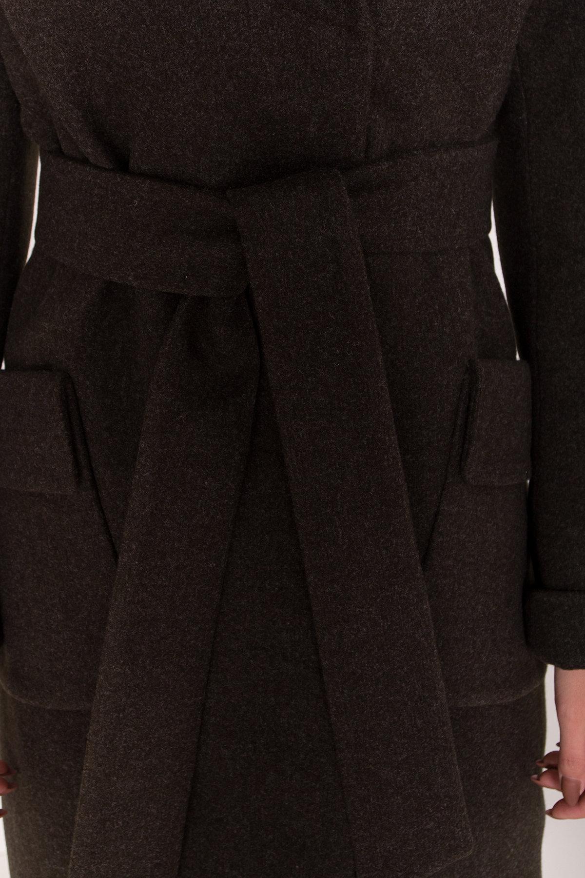 Женское пальто зима с накладными карманами Анджи 8299 АРТ. 44424 Цвет: Хаки - фото 6, интернет магазин tm-modus.ru
