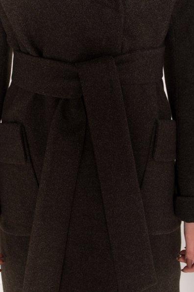 Женское пальто зима с накладными карманами Анджи 8299 Цвет: Хаки