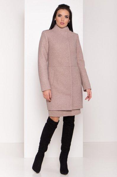 Пальто зима прямого кроя Габи 8294 Цвет: Капучино 31