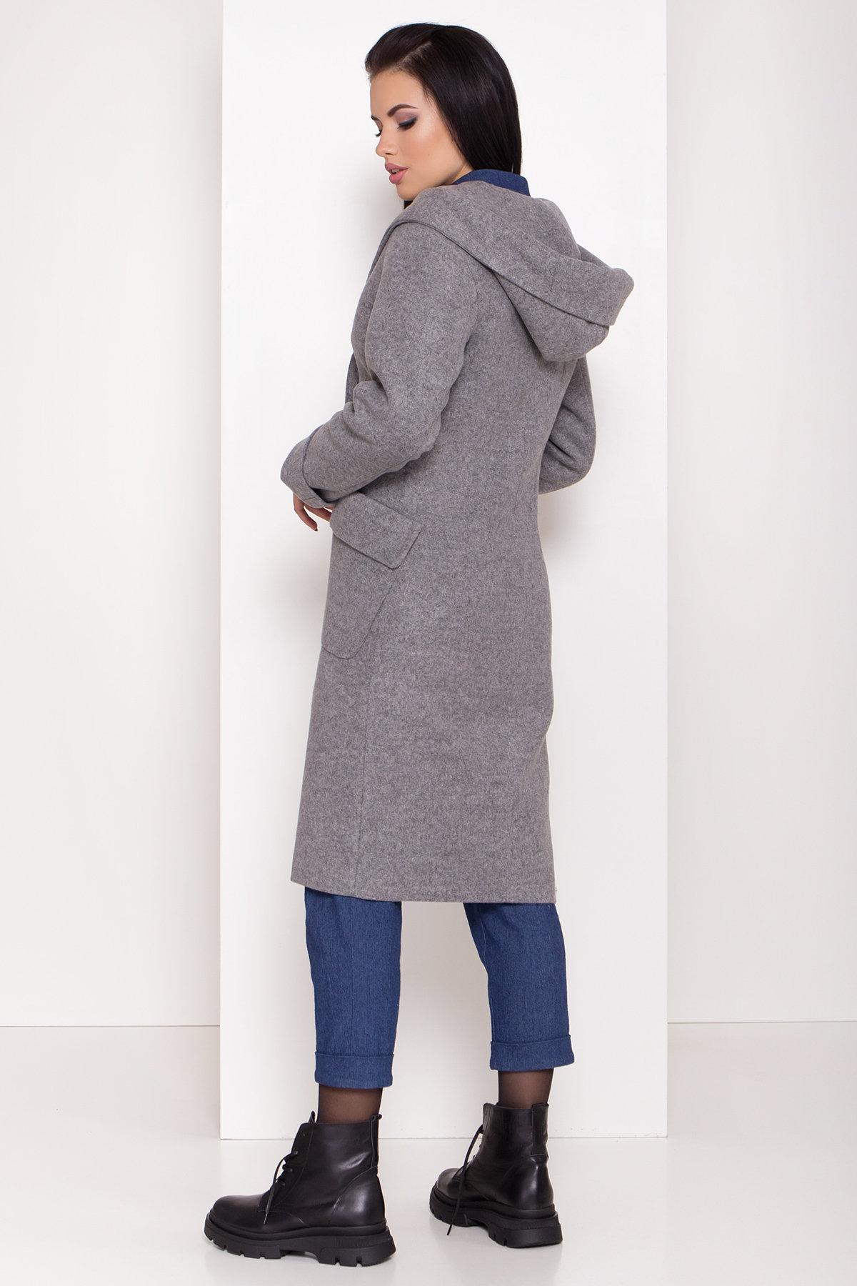 Женское пальто зима с накладными карманами Анджи 8299 АРТ. 44423 Цвет: Серый меланж - фото 3, интернет магазин tm-modus.ru