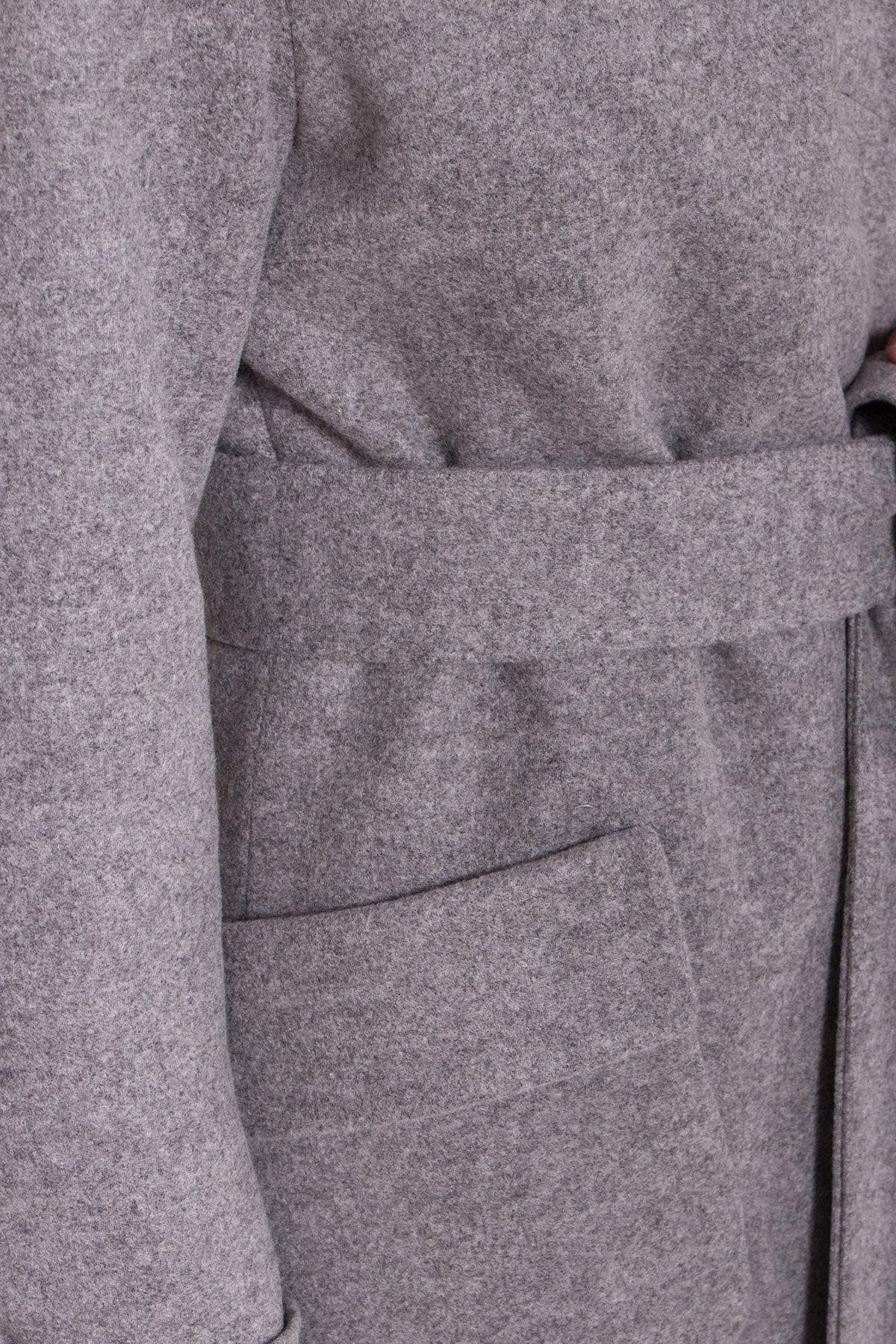 Женское пальто зима с накладными карманами Анджи 8299 АРТ. 44423 Цвет: Серый меланж - фото 6, интернет магазин tm-modus.ru