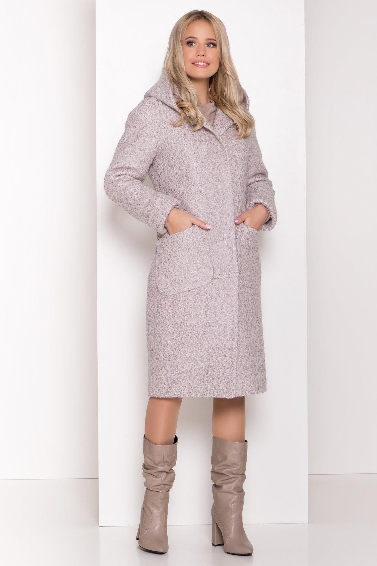 Пальто зима шерсть букле Анита 8320 АРТ. 44439 Цвет: Серый/бежевый 24 - фото 4, интернет магазин tm-modus.ru