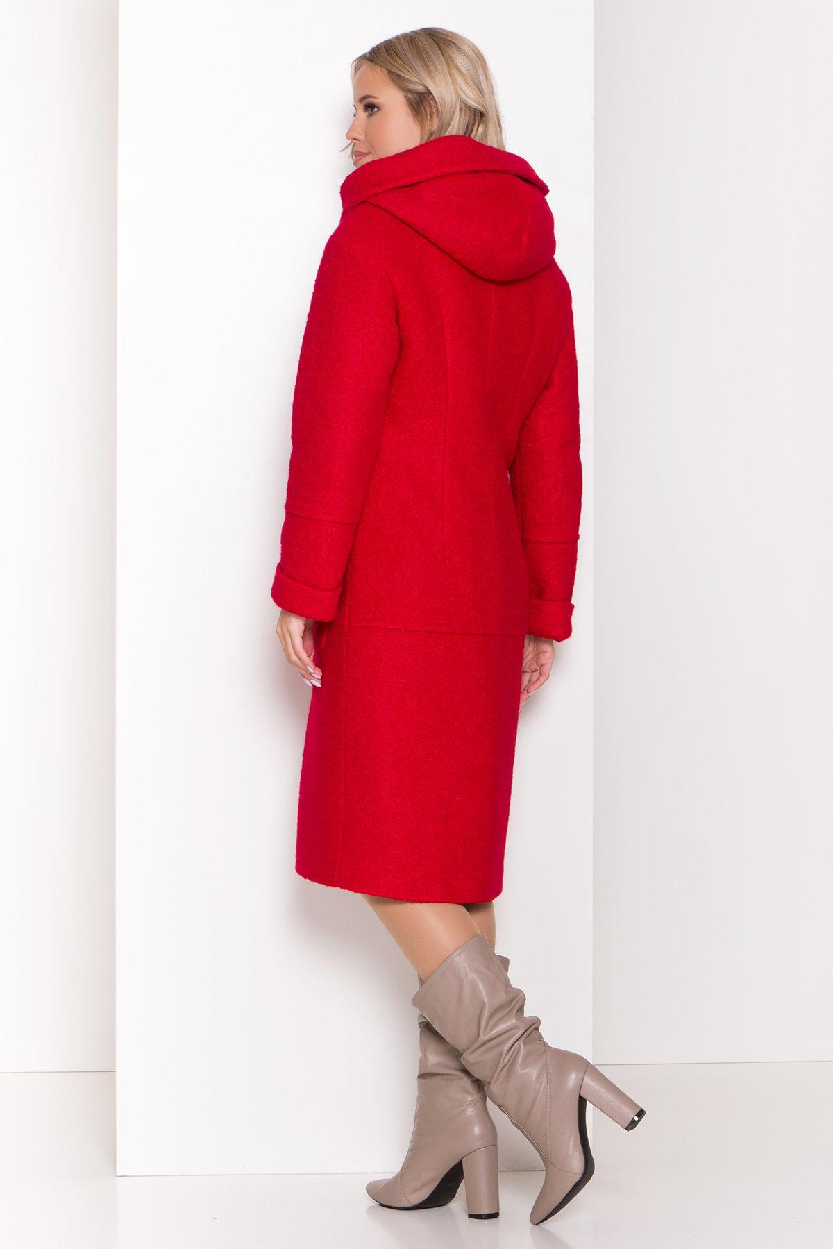 Пальто зима шерсть букле Анита классик 8320 АРТ. 44441 Цвет: Красный 1 - фото 3, интернет магазин tm-modus.ru