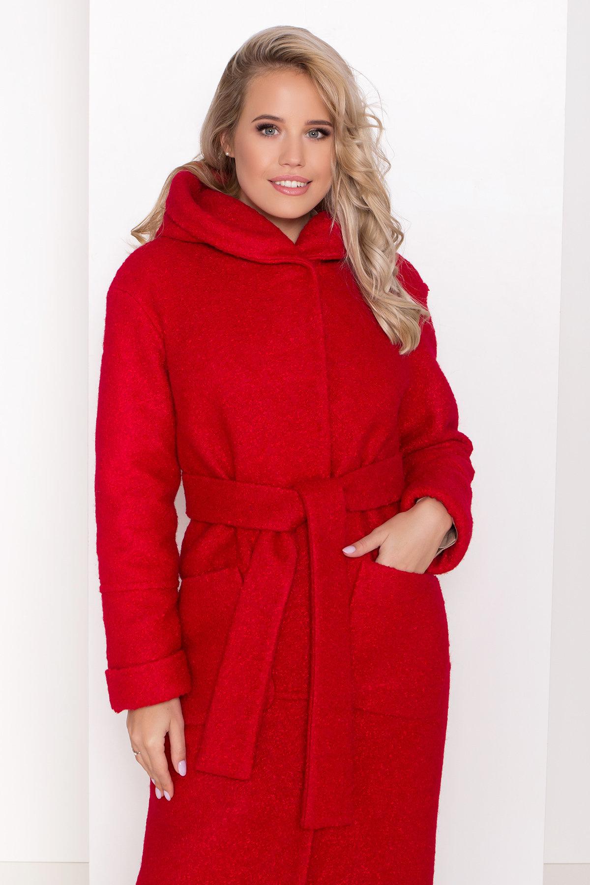 Пальто зима шерсть букле Анита 8320 АРТ. 44441 Цвет: Красный 1 - фото 5, интернет магазин tm-modus.ru