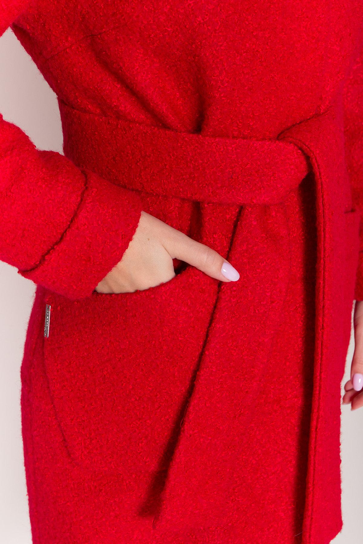 Пальто зима шерсть букле Анита классик 8320 АРТ. 44441 Цвет: Красный 1 - фото 6, интернет магазин tm-modus.ru
