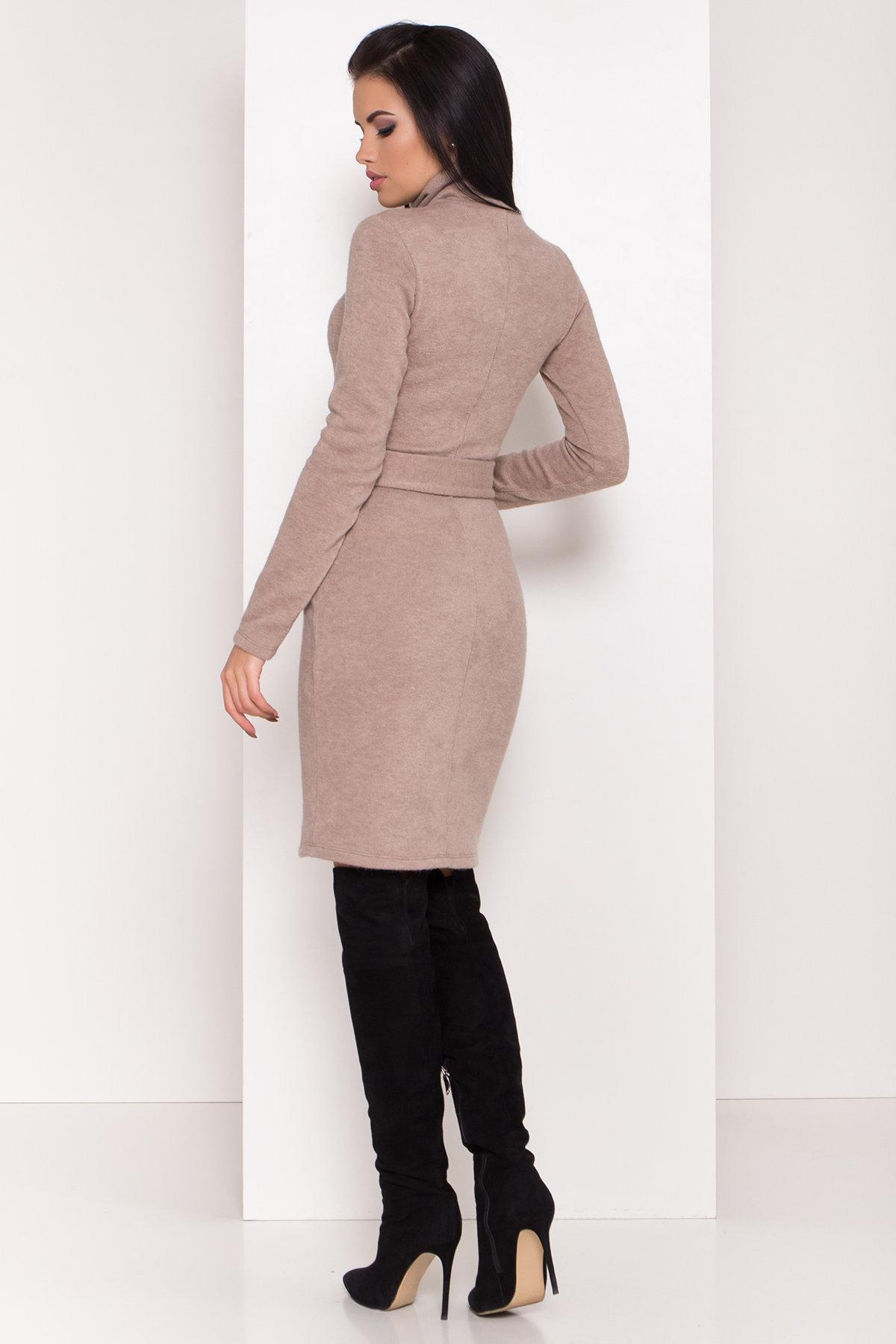 Платье из ангоры Вери 8258 АРТ. 44303 Цвет: бежевый - фото 3, интернет магазин tm-modus.ru