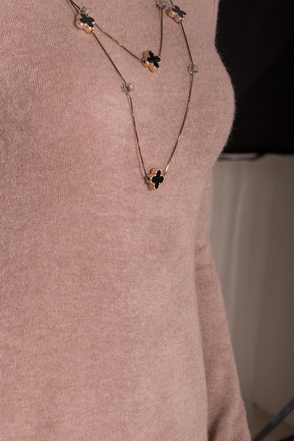 Платье из ангоры Вери 8258 АРТ. 44303 Цвет: бежевый - фото 5, интернет магазин tm-modus.ru