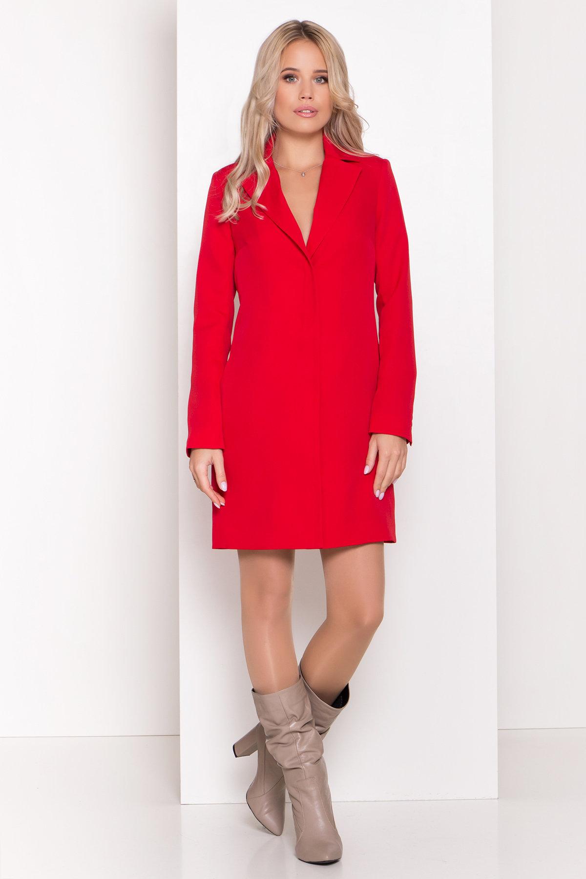 Стильное платье-жакет Маркиза 8095 АРТ. 44461 Цвет: Красный - фото 1, интернет магазин tm-modus.ru