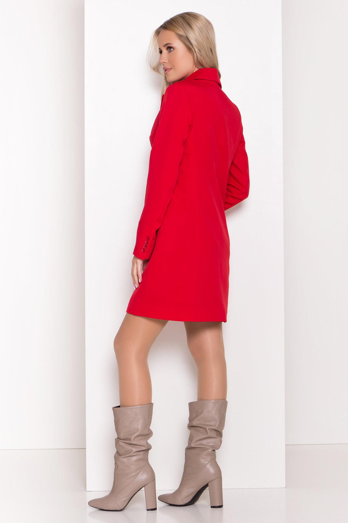 Стильное платье-жакет Маркиза 8095 АРТ. 44461 Цвет: Красный - фото 2, интернет магазин tm-modus.ru