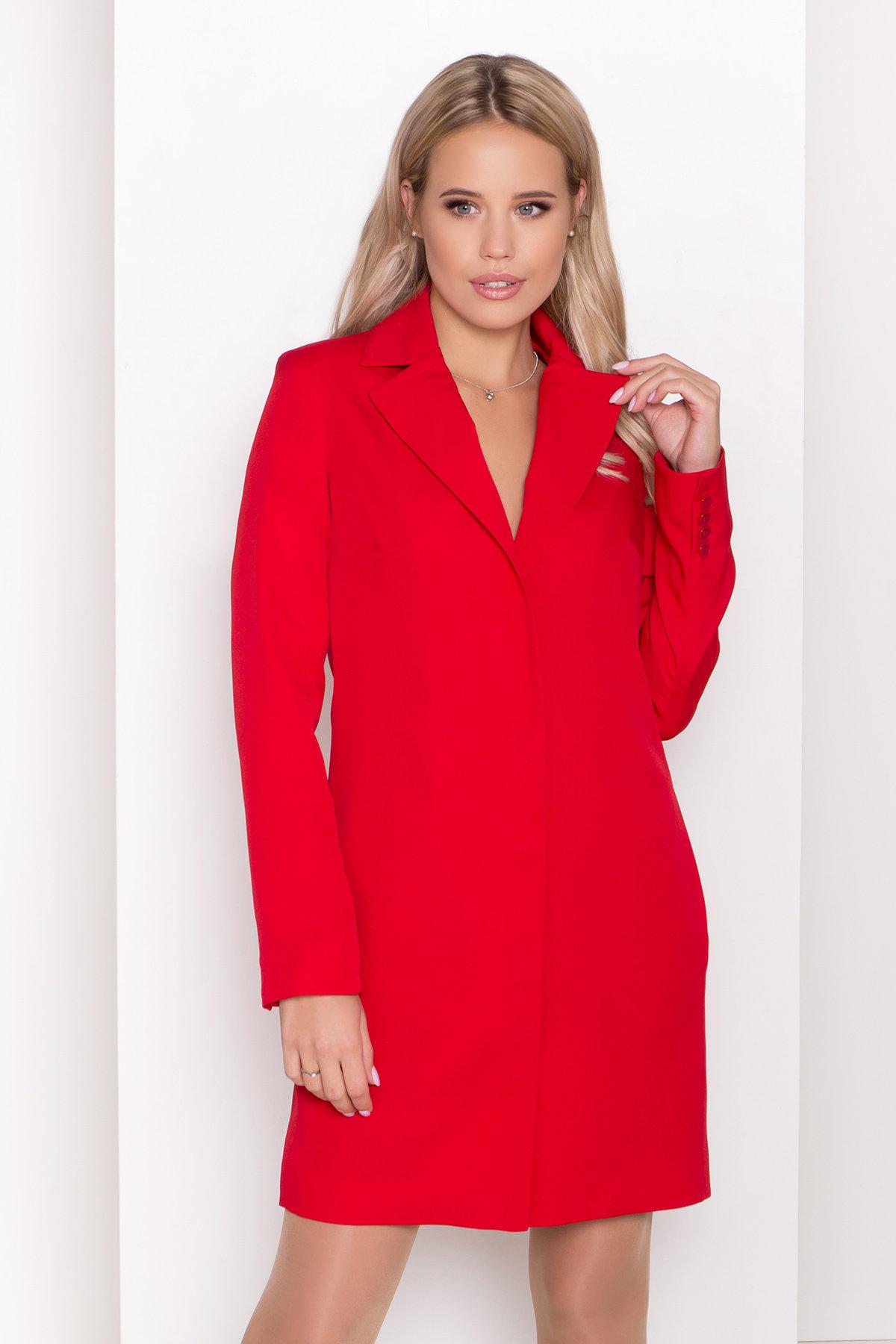 Стильное платье-жакет Маркиза 8095 АРТ. 44461 Цвет: Красный - фото 3, интернет магазин tm-modus.ru