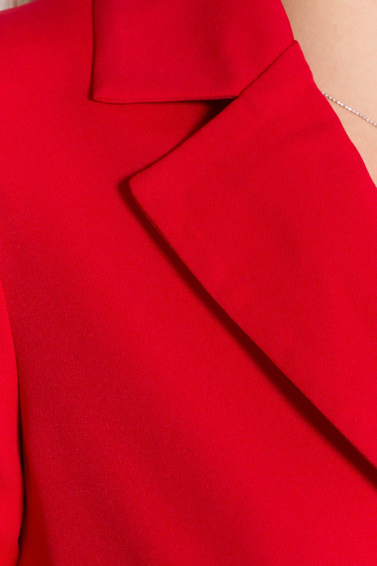 Стильное платье-жакет Маркиза 8095 АРТ. 44461 Цвет: Красный - фото 4, интернет магазин tm-modus.ru