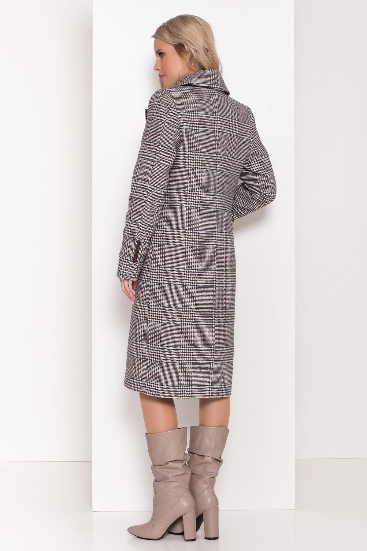 Пальто зима Эрли 8267 АРТ. 44346 Цвет: Клетка кр чер/мол/изумр - фото 4, интернет магазин tm-modus.ru