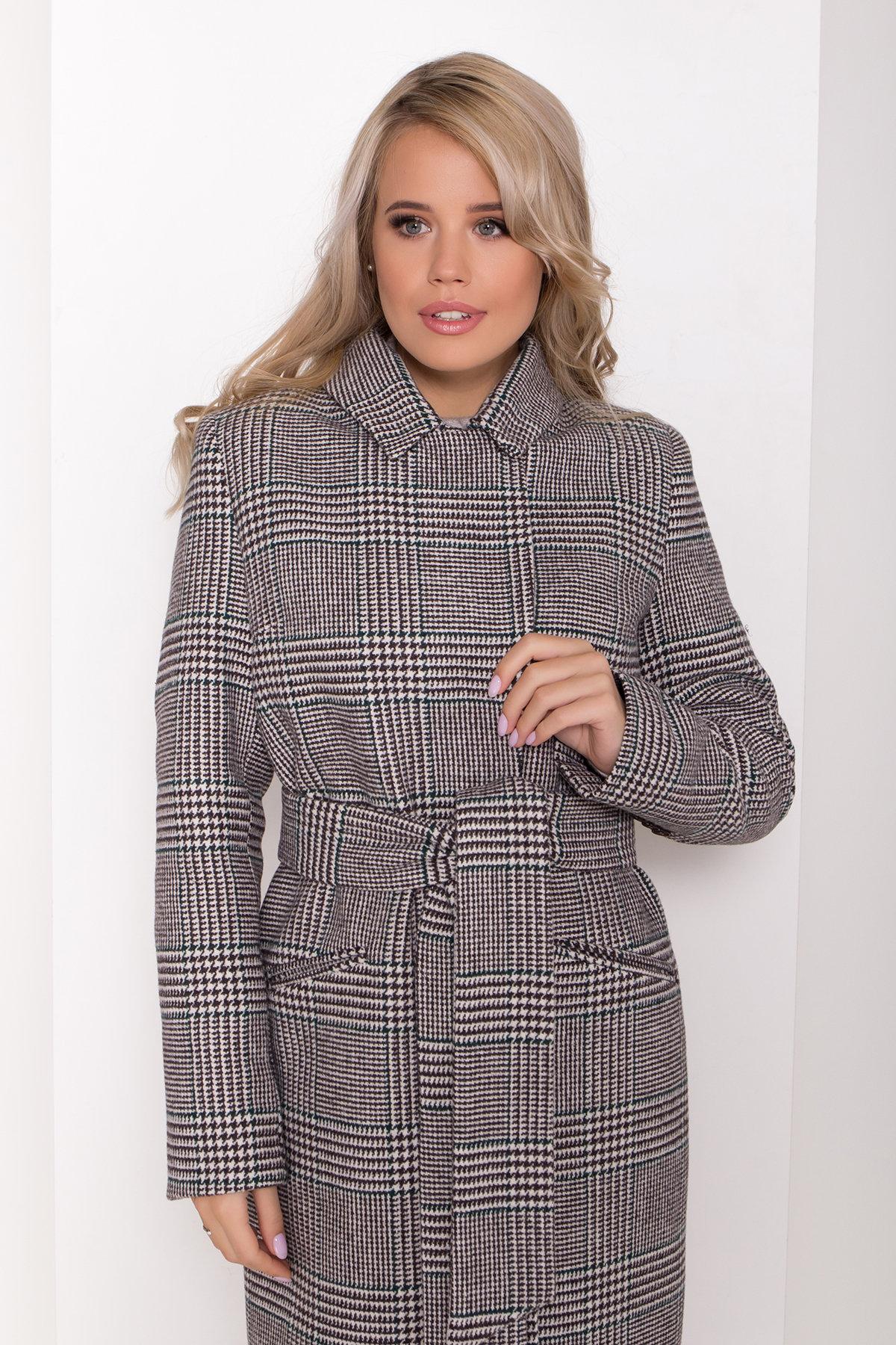 Пальто зима Эрли 8267 АРТ. 44346 Цвет: Клетка кр чер/мол/изумр - фото 5, интернет магазин tm-modus.ru