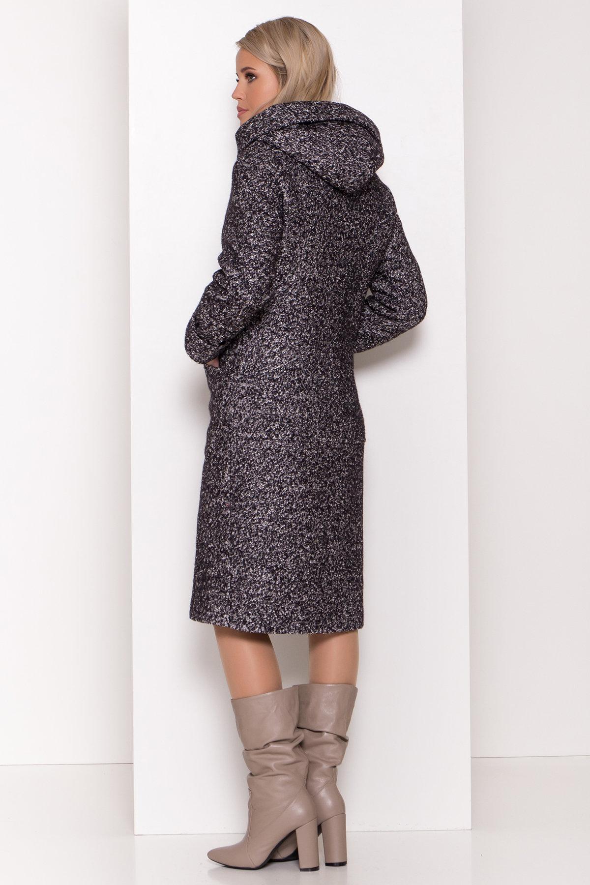 Пальто зима шерсть букле Анита 8320 АРТ. 44442 Цвет: Черный/серый - фото 4, интернет магазин tm-modus.ru