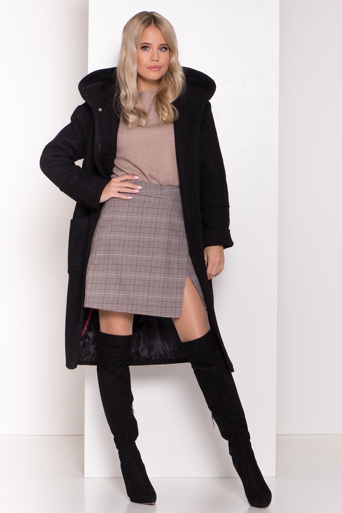 Пальто с капюшоном зимнее Анита 8327 АРТ. 44473 Цвет: Черный - фото 2, интернет магазин tm-modus.ru