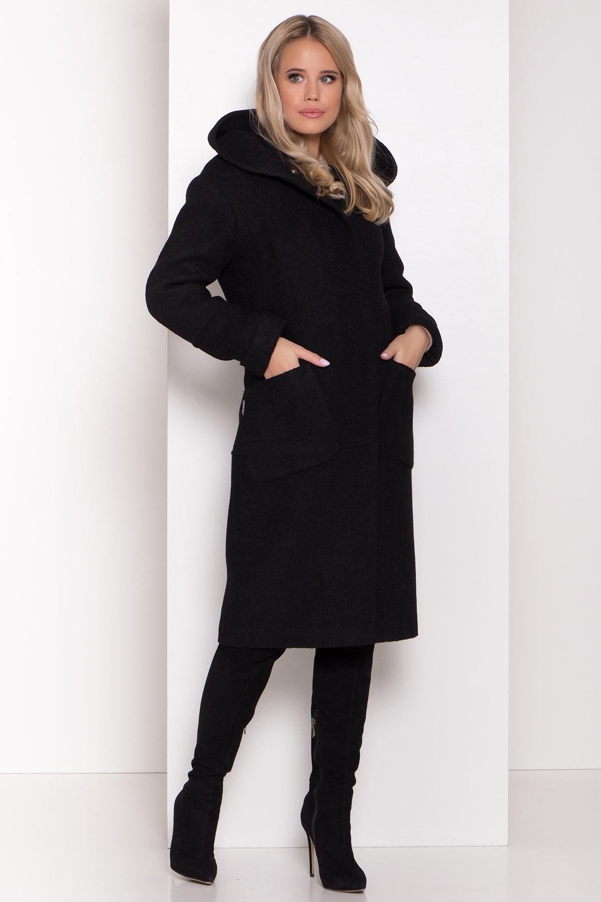 Пальто с капюшоном зимнее Анита 8327 АРТ. 44473 Цвет: Черный - фото 3, интернет магазин tm-modus.ru
