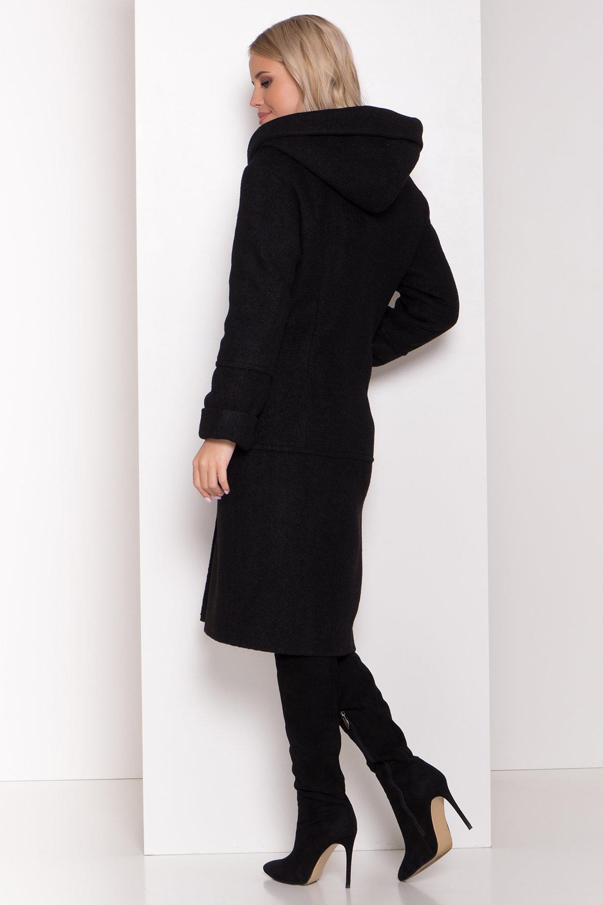Пальто с капюшоном зимнее Анита 8327 АРТ. 44473 Цвет: Черный - фото 4, интернет магазин tm-modus.ru