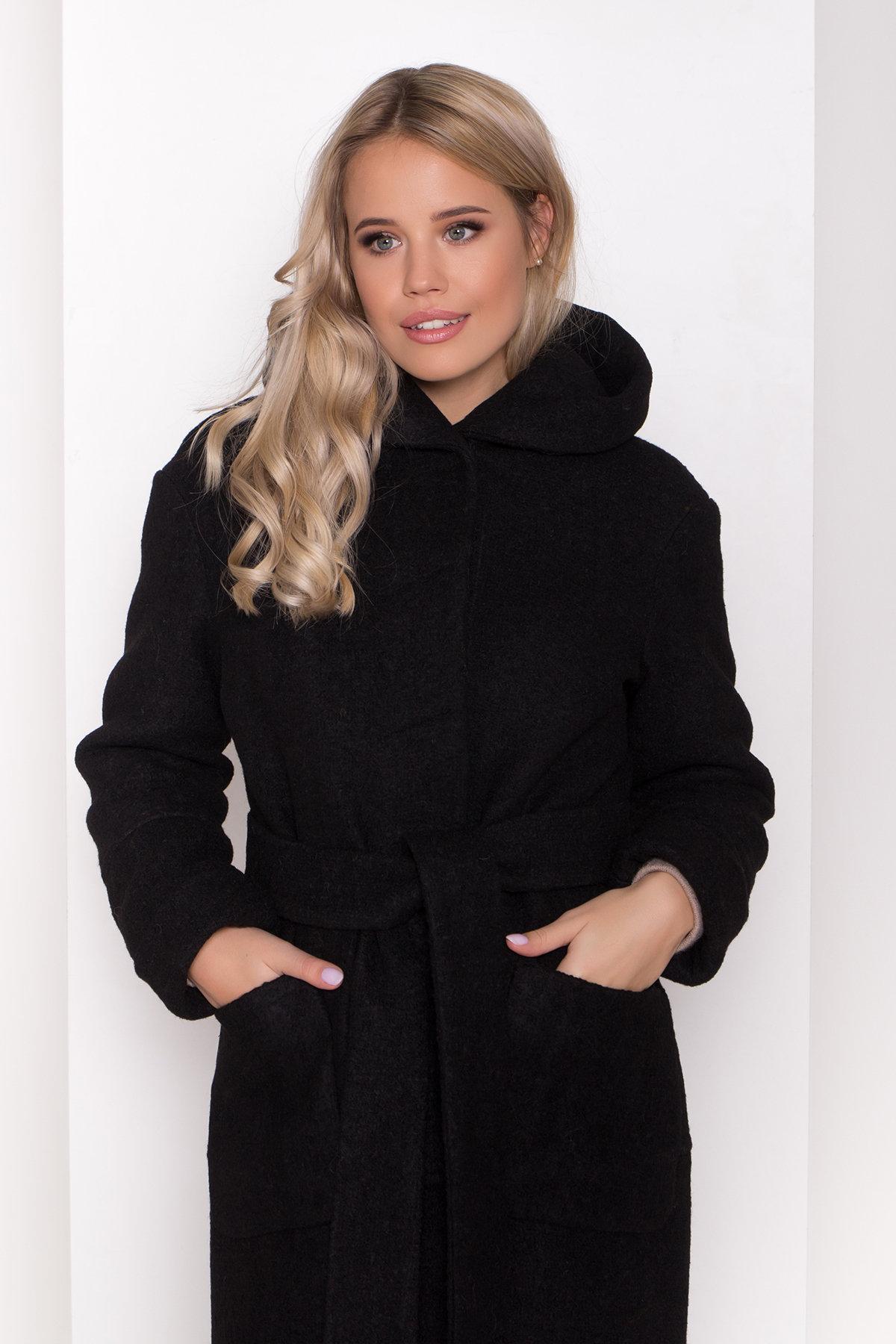 Пальто с капюшоном зимнее Анита 8327 АРТ. 44473 Цвет: Черный - фото 5, интернет магазин tm-modus.ru
