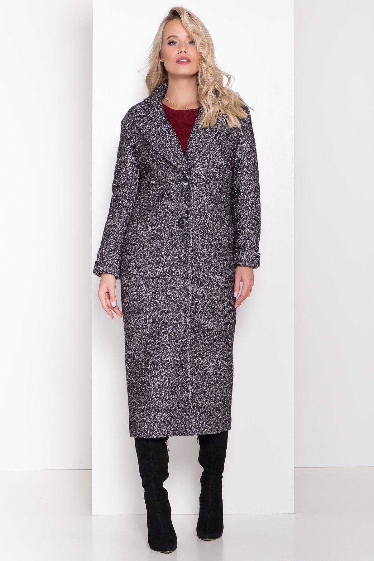 Теплое зимнее пальто буклированная шерсть Вива макси 8349 АРТ. 44517 Цвет: Черный/серый 61 - фото 12, интернет магазин tm-modus.ru