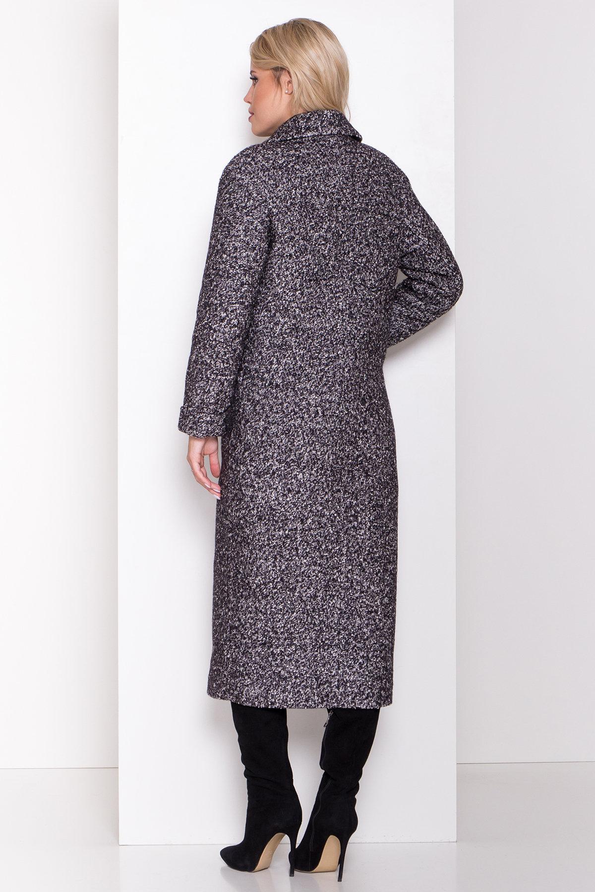 Теплое зимнее пальто буклированная шерсть Вива макси 8349 АРТ. 44517 Цвет: Черный/серый 61 - фото 15, интернет магазин tm-modus.ru