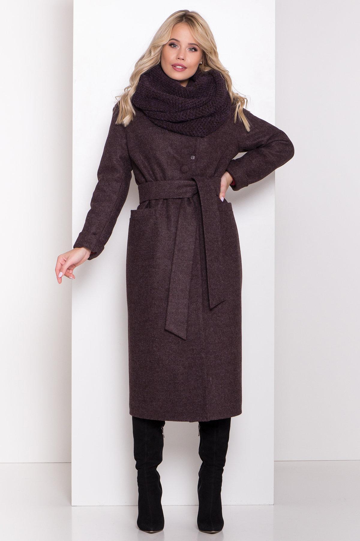 Длинное пальто зима Вива макси 8341 АРТ. 44495 Цвет: Шоколад 7 - фото 1, интернет магазин tm-modus.ru