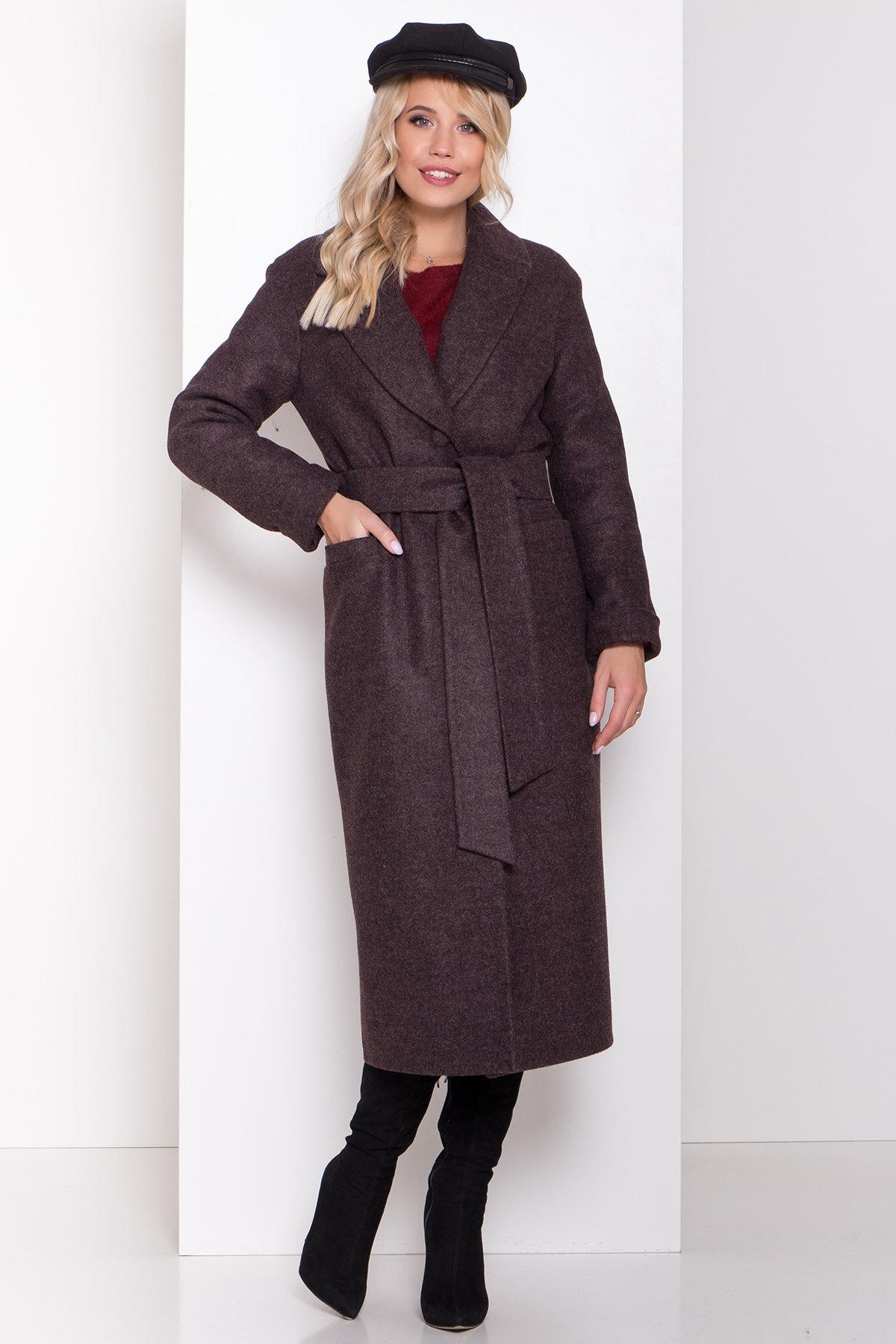Длинное пальто зима Вива макси 8341 АРТ. 44495 Цвет: Шоколад 7 - фото 4, интернет магазин tm-modus.ru