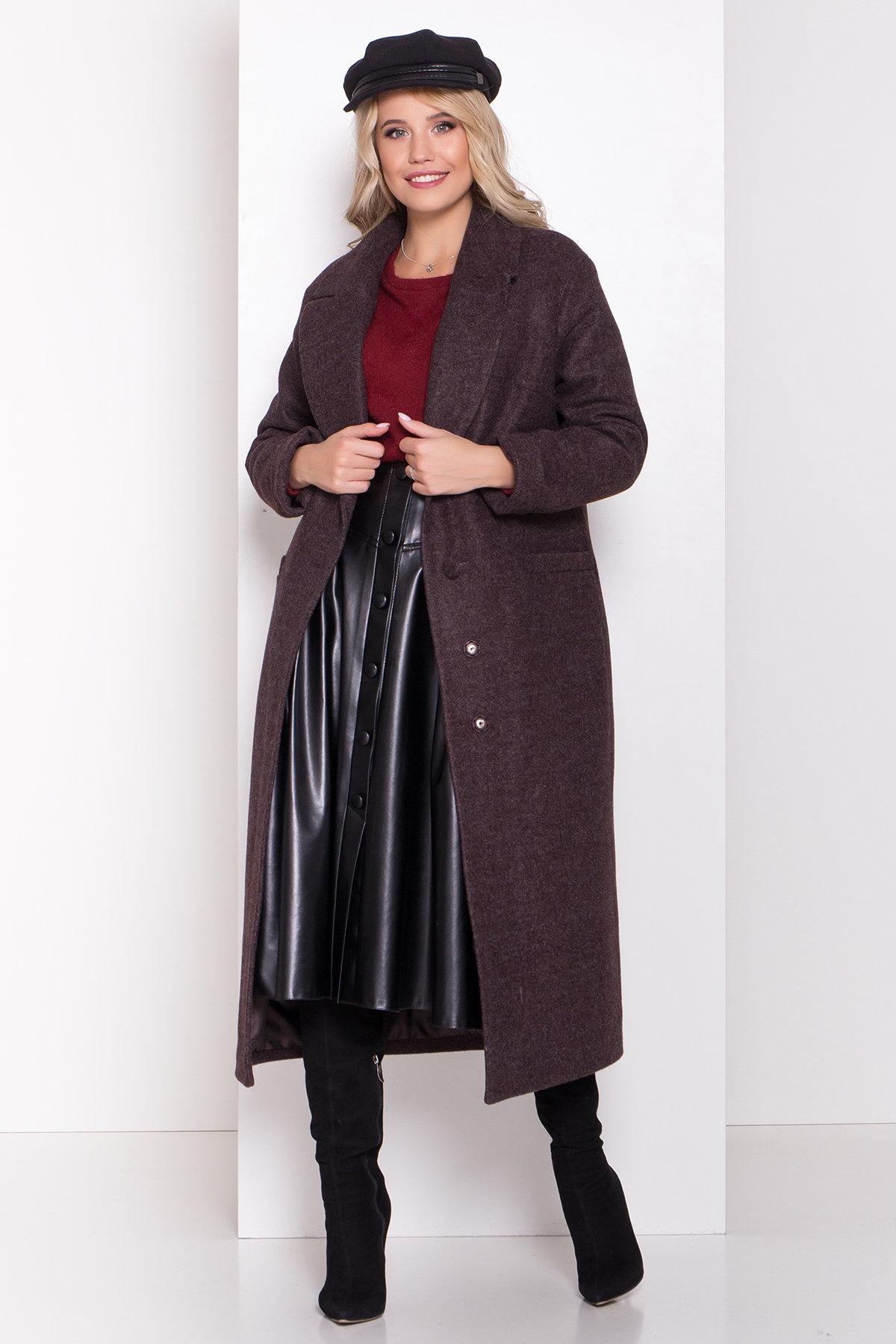 Длинное пальто зима Вива макси 8341 АРТ. 44495 Цвет: Шоколад 7 - фото 7, интернет магазин tm-modus.ru