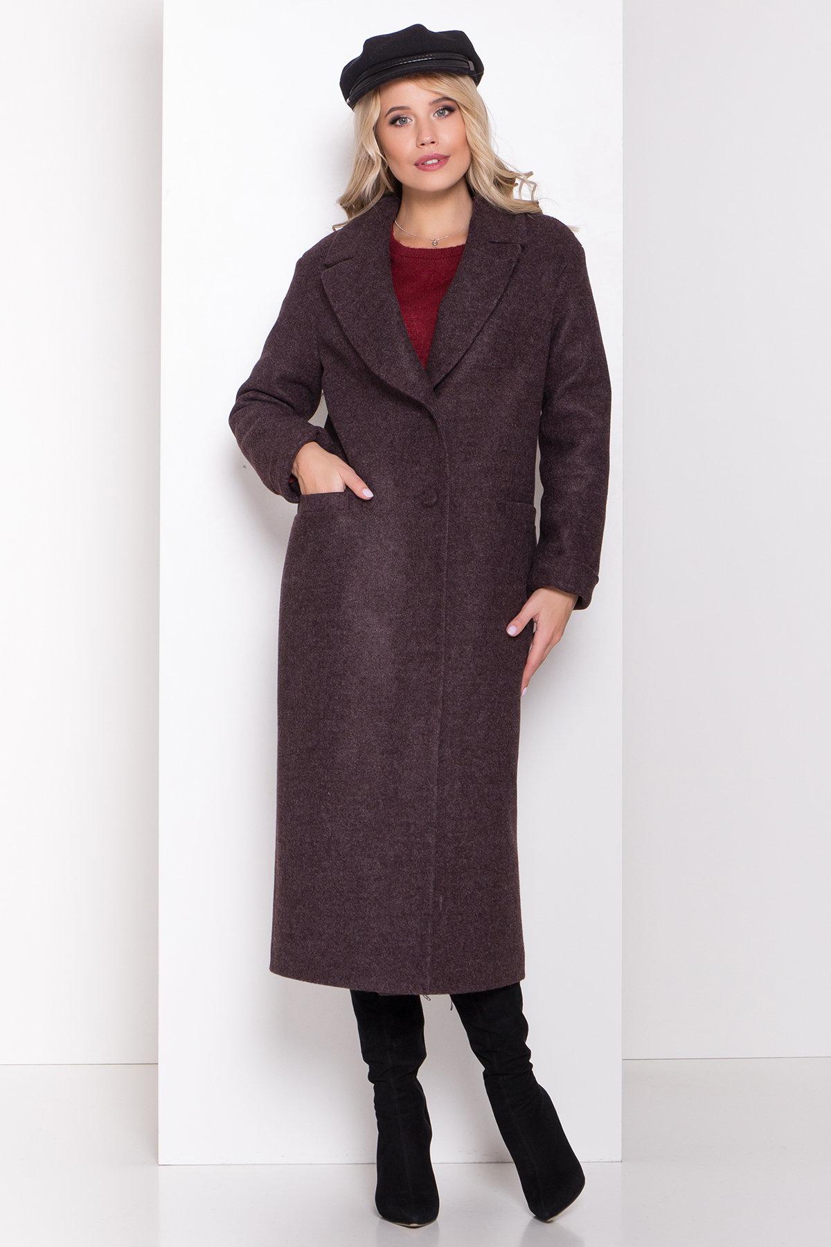 Длинное пальто зима Вива макси 8341 АРТ. 44495 Цвет: Шоколад 7 - фото 10, интернет магазин tm-modus.ru