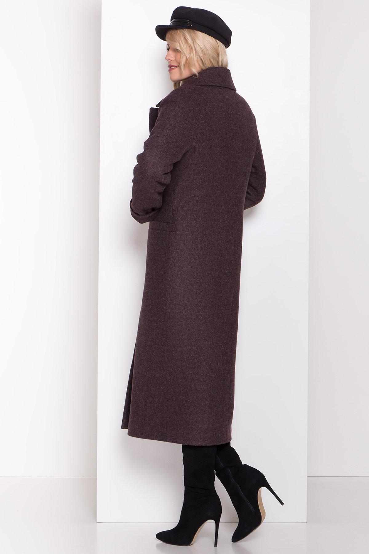Длинное пальто зима Вива макси 8341 АРТ. 44495 Цвет: Шоколад 7 - фото 13, интернет магазин tm-modus.ru