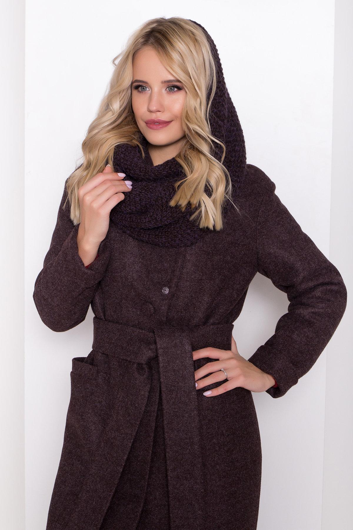 Длинное пальто зима Вива макси 8341 АРТ. 44495 Цвет: Шоколад 7 - фото 16, интернет магазин tm-modus.ru