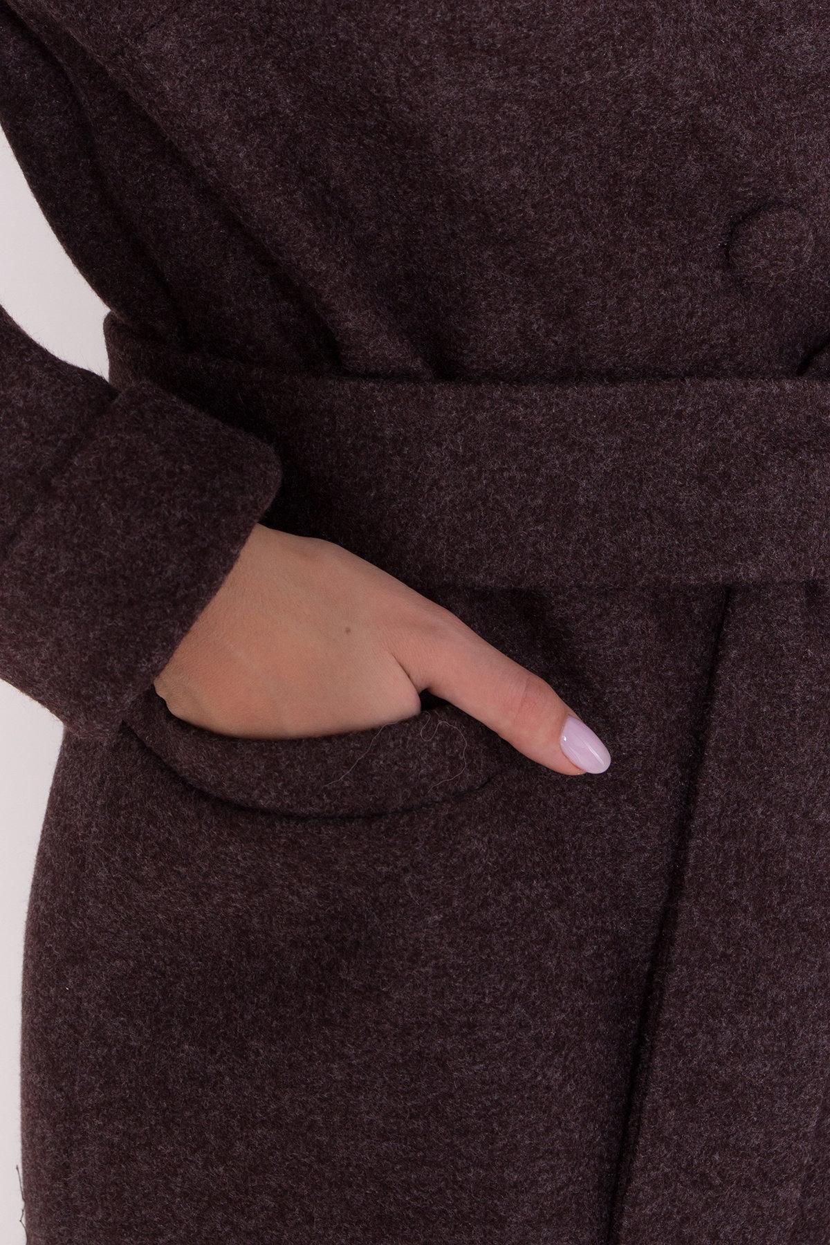 Длинное пальто зима Вива макси 8341 АРТ. 44495 Цвет: Шоколад 7 - фото 19, интернет магазин tm-modus.ru