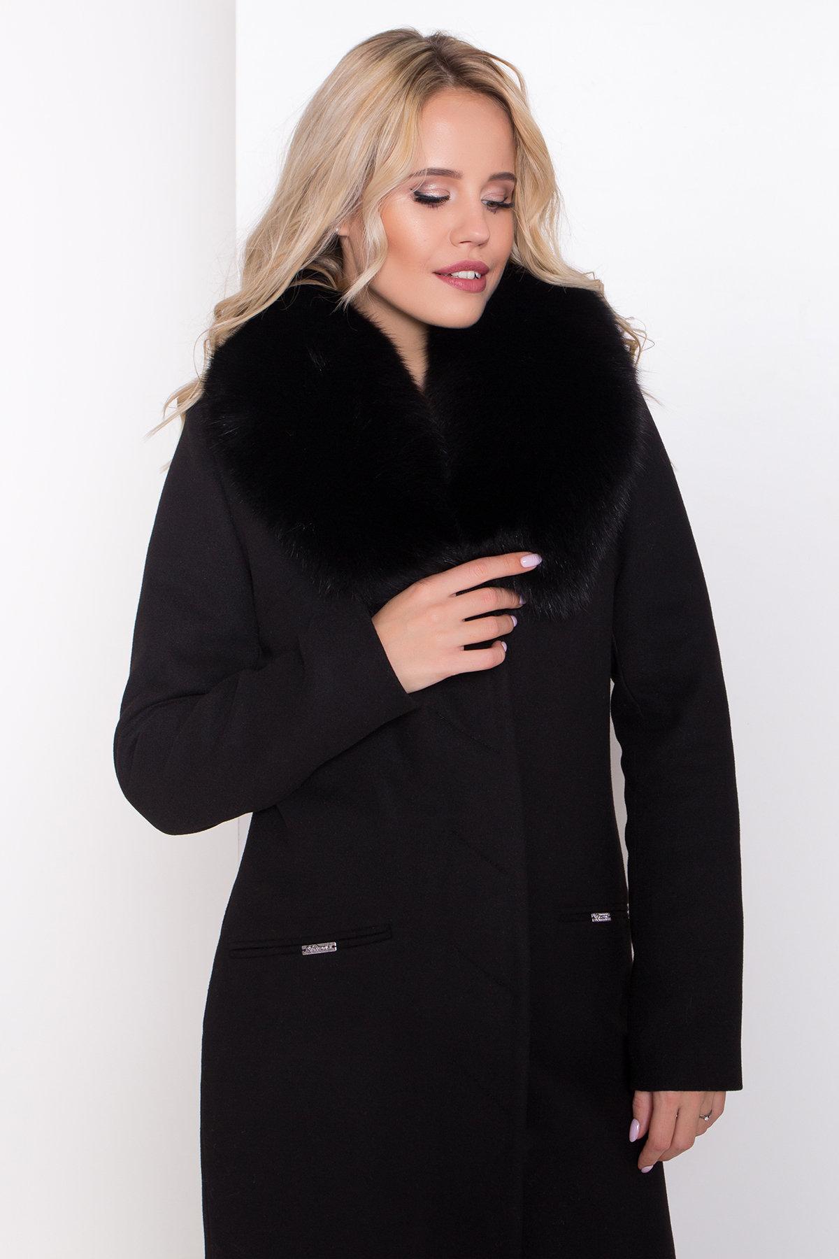 Пальто зима Микадо 8255 Цвет: Черный Н-1
