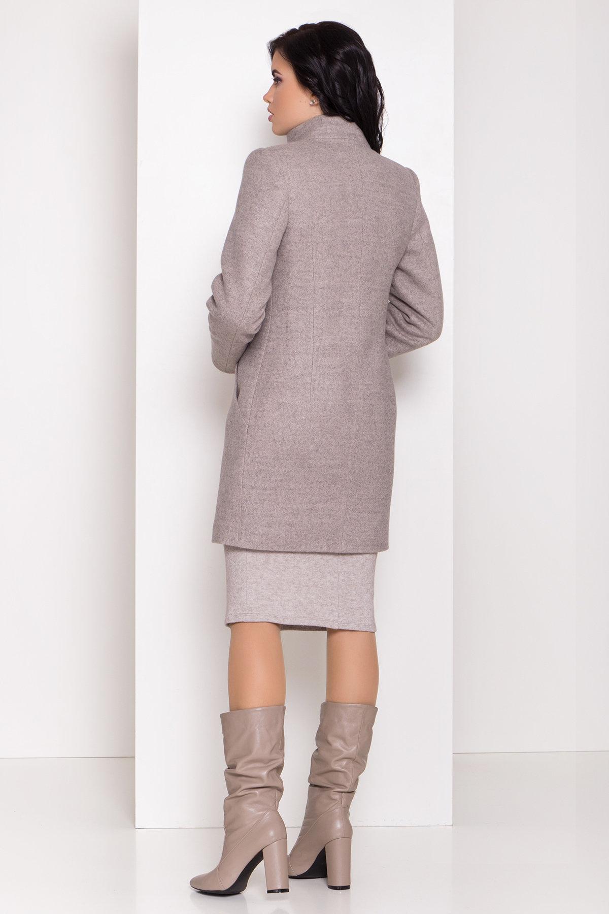 Зимнее пальто с круговым шарфом  Сплит 8406 АРТ. 44632 Цвет: Бежевый 31 - фото 3, интернет магазин tm-modus.ru