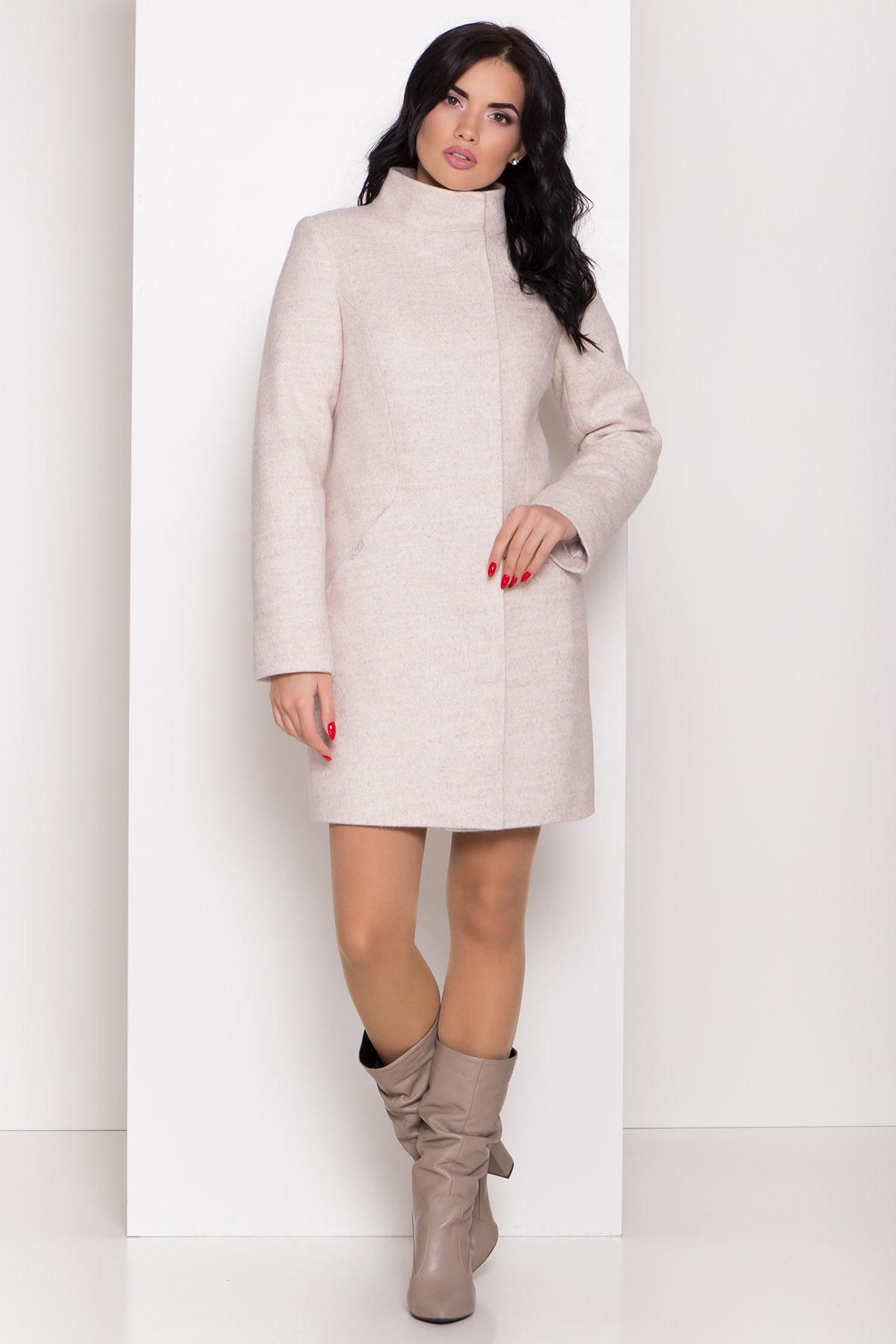 Зимнее пальто с круговым шарфом  Сплит 8406 АРТ. 44631 Цвет: Бежевый 21 - фото 4, интернет магазин tm-modus.ru