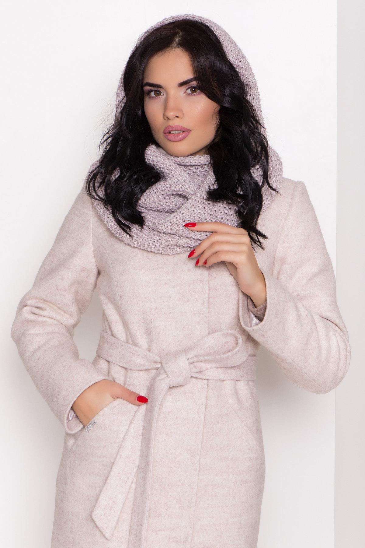 Зимнее пальто с круговым шарфом  Сплит 8406 АРТ. 44631 Цвет: Бежевый 21 - фото 6, интернет магазин tm-modus.ru