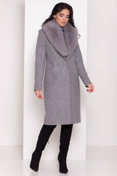 Пальто зима Мехико 8298 Цвет: Серый 1