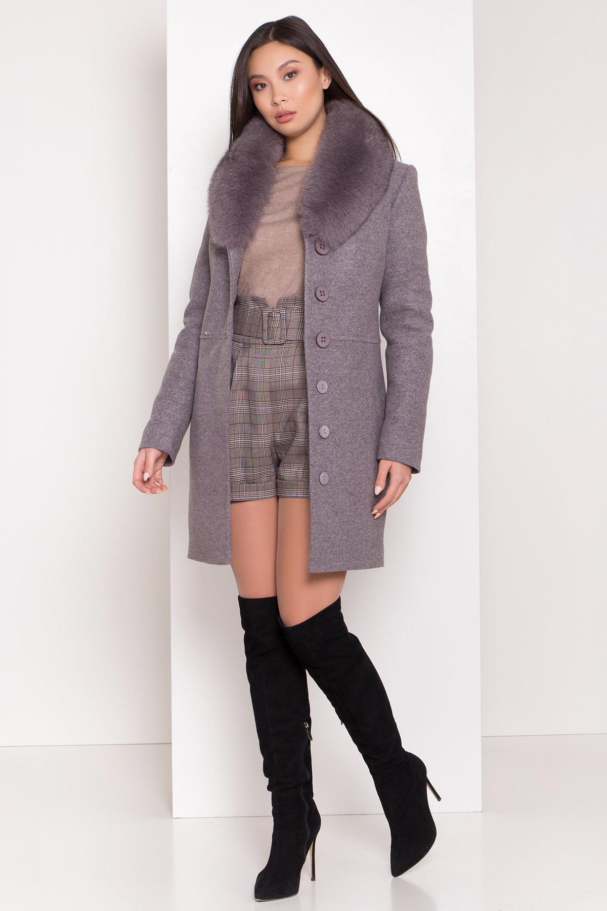 Пальто зима Габриэлла 8222 Цвет: Серо-розовый 19