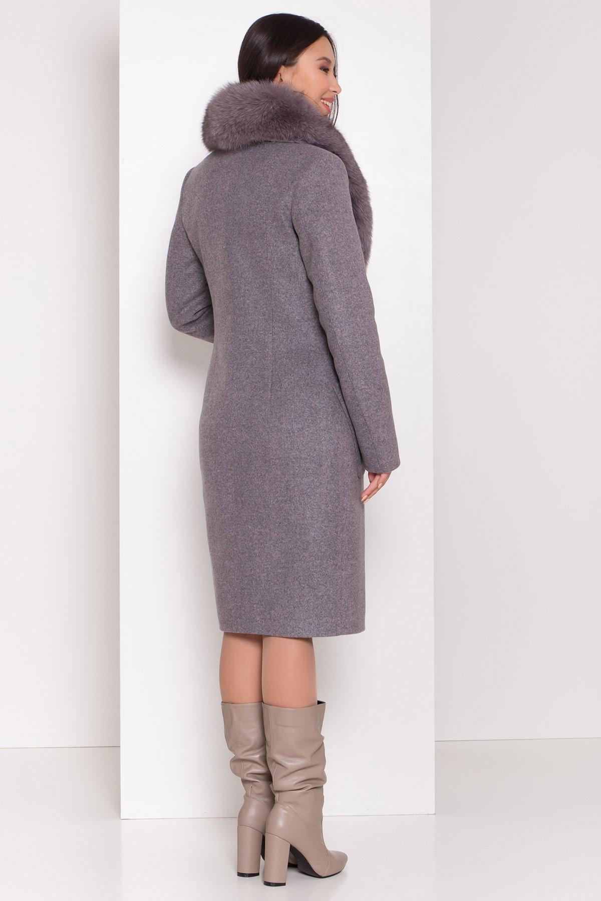 Пальто зима Габриэлла 8389 Цвет: Серо-розовый 19