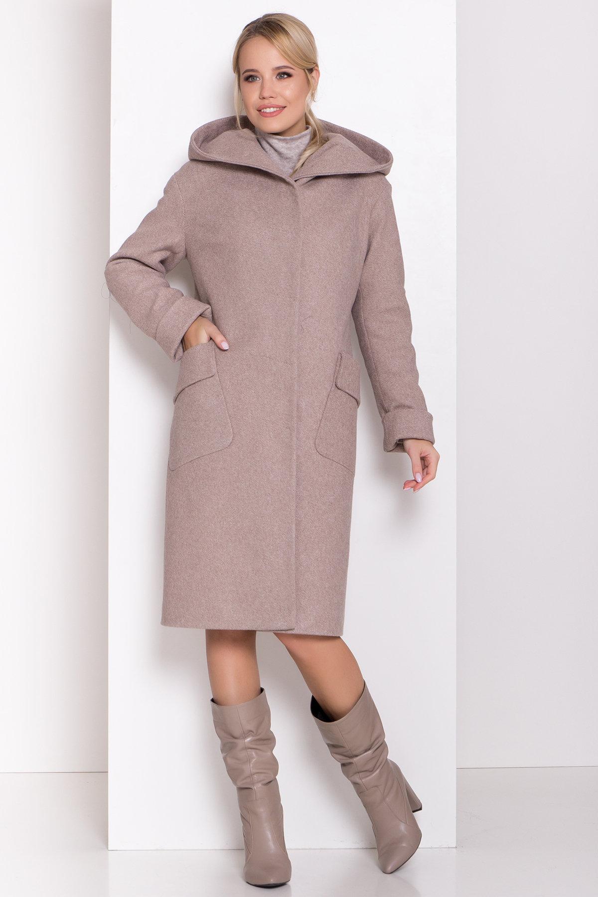 Пальто зима Анджи 8455 АРТ. 44727 Цвет: Бежевый меланж - фото 3, интернет магазин tm-modus.ru