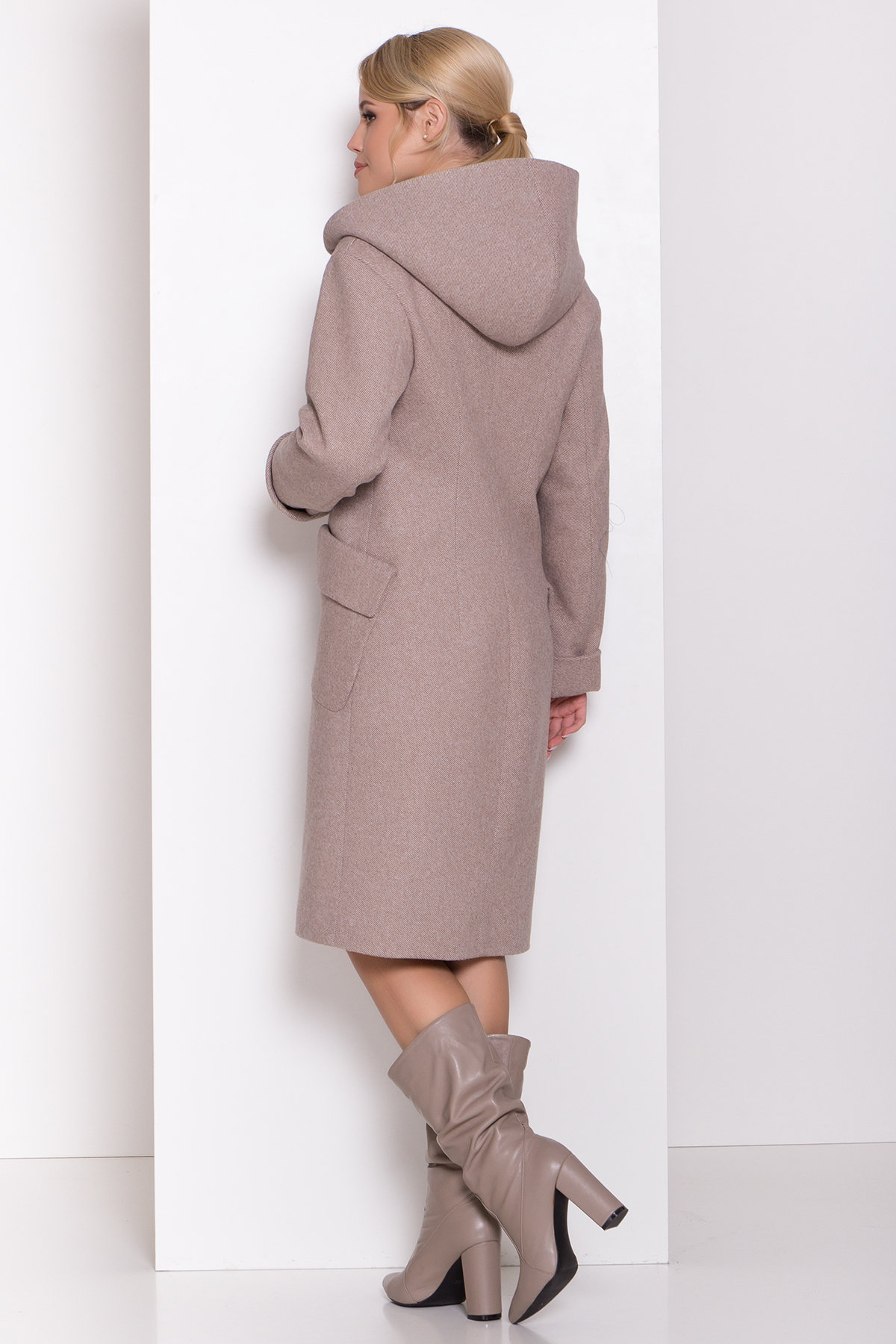 Пальто зима Анджи 8455 АРТ. 44727 Цвет: Бежевый меланж - фото 4, интернет магазин tm-modus.ru